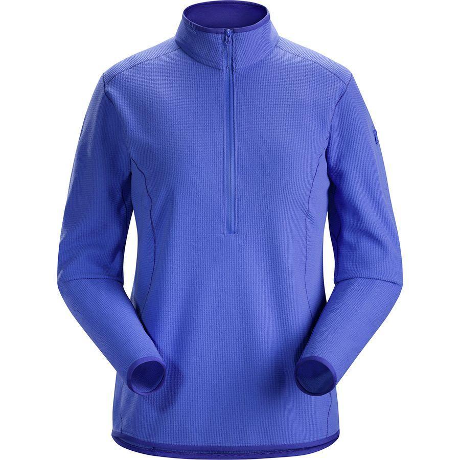 (取寄)アークテリクス レディース デルタ LT フリース 1/2-Zip プルオーバー Arc'teryx Women Delta LT Fleece 1/2-Zip Pullover Iolite