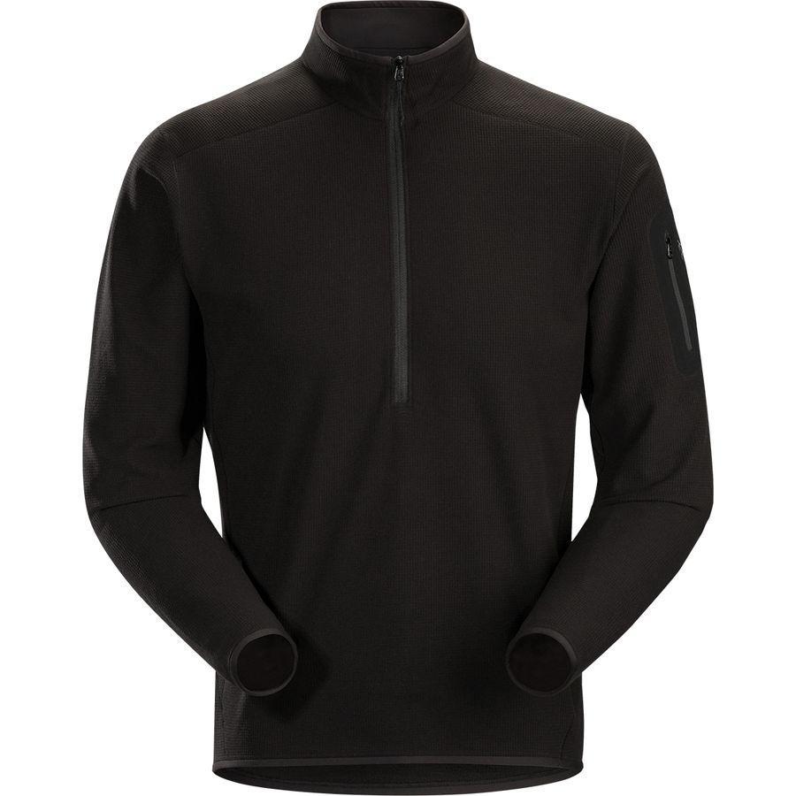 (取寄)アークテリクス メンズ デルタ LT Zip-Neck フリース プルオーバー Arc'teryx Men's Delta LT Zip-Neck Fleece Pullover Black