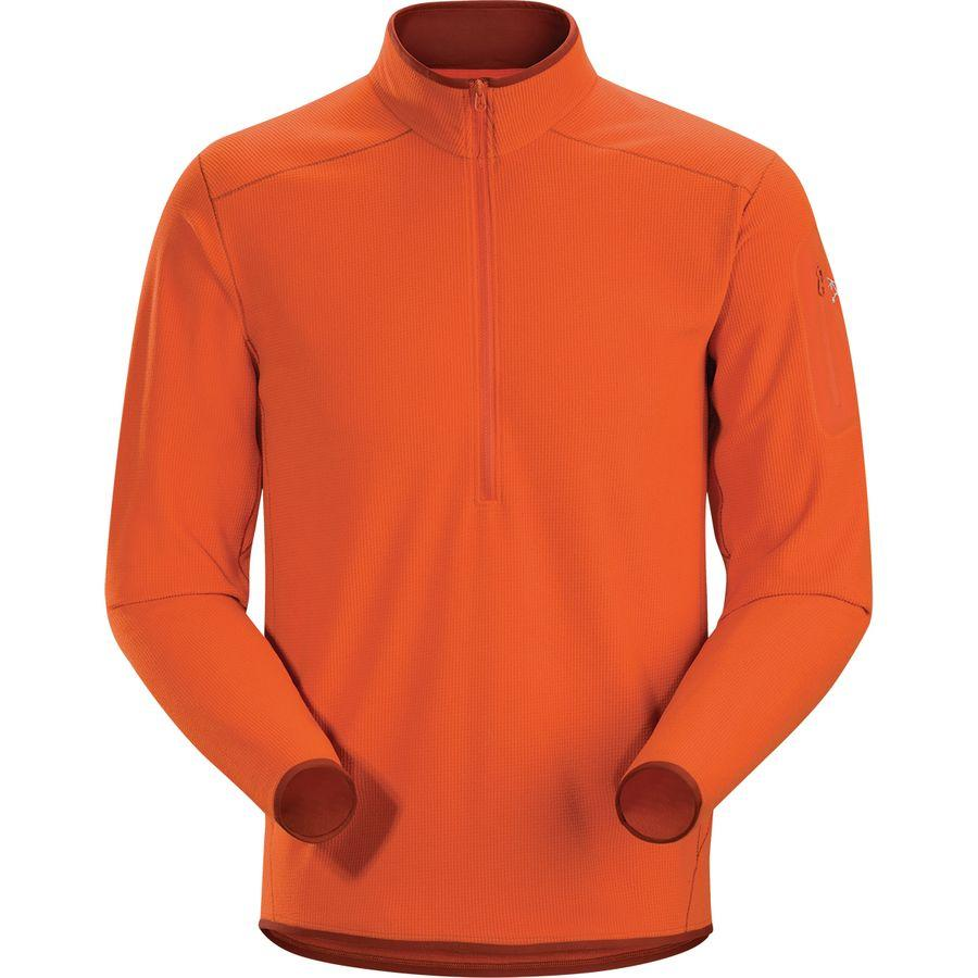 (取寄)アークテリクス メンズ デルタ LT Zip-Neck フリース プルオーバー Arc'teryx Men's Delta LT Zip-Neck Fleece Pullover Trail Blaze