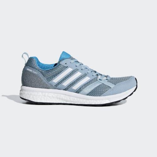 (取寄)アディダス レディース アディゼロ テンポ 9 ランニングシューズ adidas Women Adizero Tempo 9 Shoes Ash Grey / Cloud White / Shock Cyan