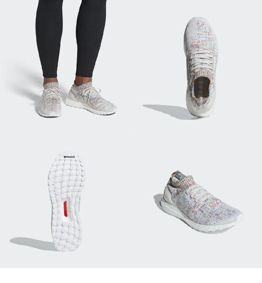 (order) Adidas men ultra boost Ann caged running shoes adidas Men s Ultraboost  Uncaged Shoes Raw White   Cloud White   Shock Cyan e5ca8d9ca