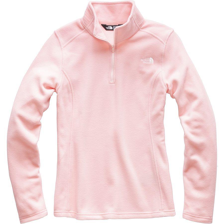 (取寄)ノースフェイス レディース グレイシャー 1/4-Zip フリース プルオーバー The North Face Women Glacier 1/4-Zip Fleece Pullover Pink Salt