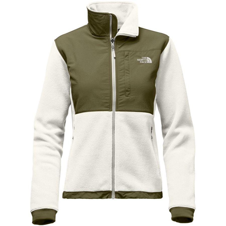 (取寄)ノースフェイス レディース デナリ 2 フリース ジャケット The North Face Women Denali 2 Fleece Jacket Vintage White/Burnt Olive Green