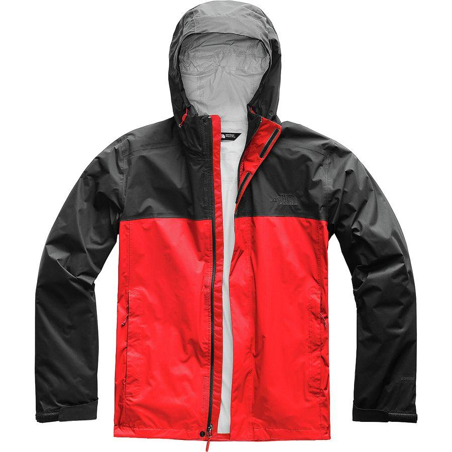 (取寄)ノースフェイス メンズ ベンチャー 2 フーデッド ジャケット The North Face Men's Venture 2 Hooded Jacket Fiery Red/Asphalt Grey
