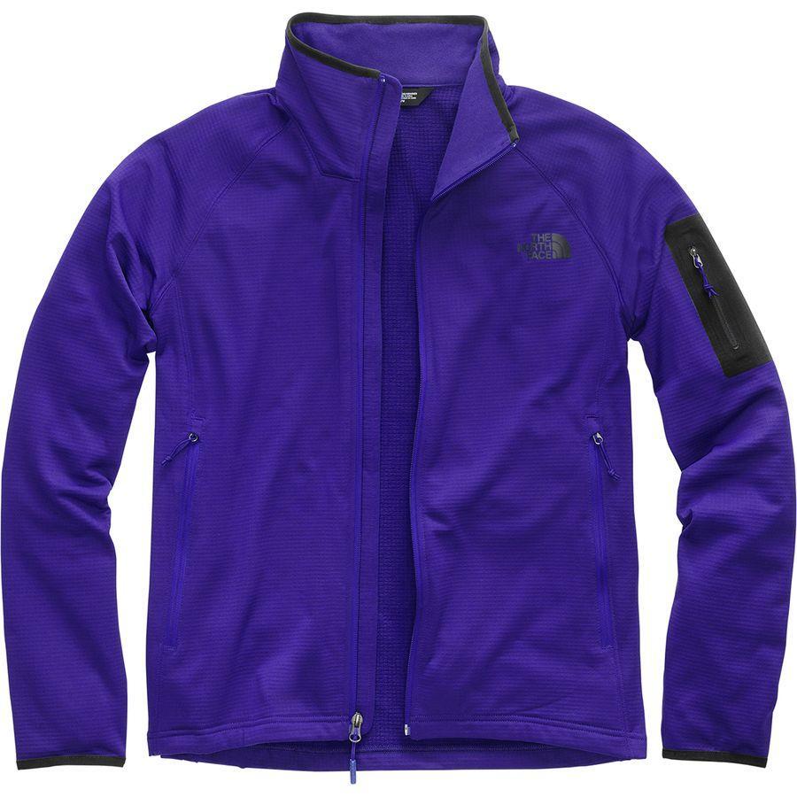 (取寄)ノースフェイス メンズ ボアード フリース ジャケット The North Face Men's Borod Fleece Jacket Aztec Blue/Tnf Black