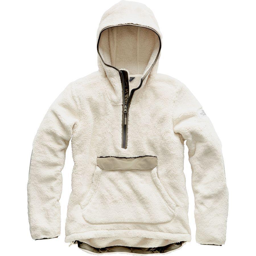 (取寄)ノースフェイス レディース Campshire フーデッド プルオーバー フリース ジャケット The North Face Women Campshire Hooded Pullover Fleece Jacket Vintage White/Silt Grey