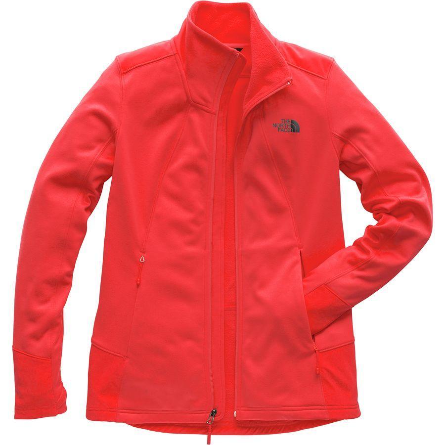(取寄)ノースフェイス レディース シャスティーナ ストレッチ フルジップ ジャケット The North Face Women Shastina Stretch Full-Zip Jacket Juicy Red/Juicy Red