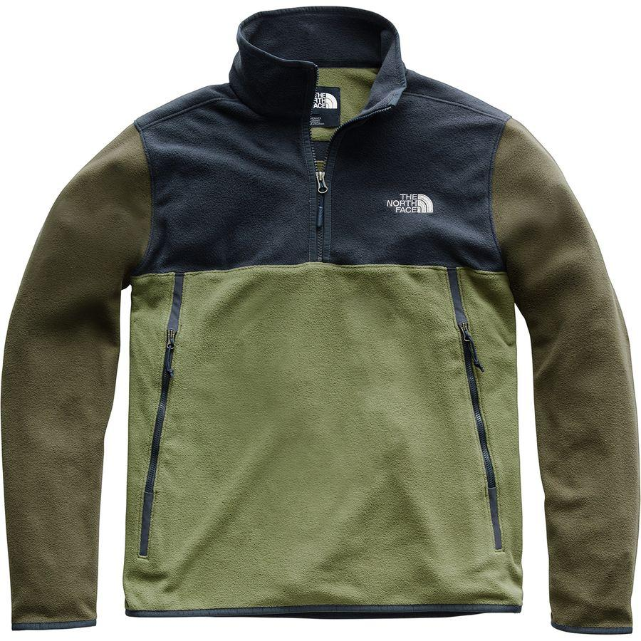 (取寄)ノースフェイス メンズ グレイシャー アルパイン 1/4-Zipフリース プルオーバー ジャケット The North Face Men's Glacier Alpine 1/4-Zip Fleece Pullover Jacket Four Leaf Clover/Urban Navy/New Taupe Green