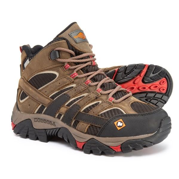 (取寄)メレル レディース ワーク モアブ 2 ベント ミッド ブーツ Merrell Women Work Moab 2 Vent Mid Boots Boulder