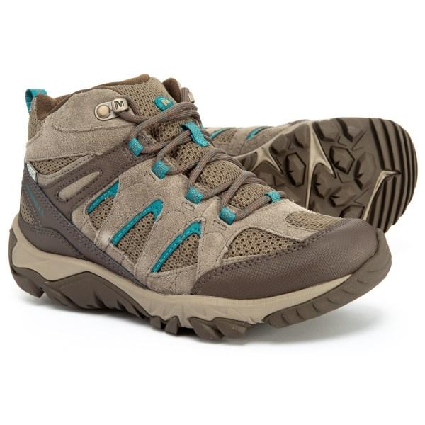 (取寄)メレル レディース アウトモースト ベント ミッド ハイキング ブーツ Merrell Women Outmost Vent Mid s Hiking Boot Boulder