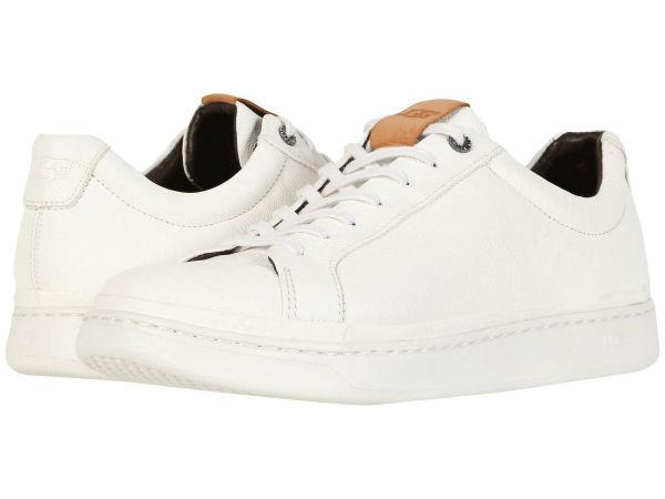 【正規品】【靴 シューズ 】【ローファー フラットシューズ スリッポン】【革 レザー】【メンズ 大きいサイズ ビッグサイズ】 (取寄)アグ メンズ スニーカー ロウ UGG Men's Sneaker Low White