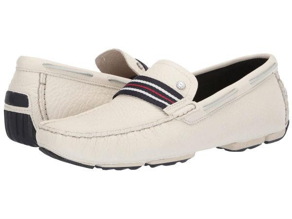 (取寄)アグ メンズ モカシン Bel-Air ウーヴン ストライプ スリップ UGG Men's Bel-Air Woven Stripe Slip White