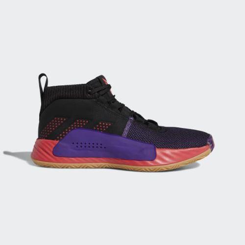 (取寄)アディダス メンズ デイム 5 バスケットボールシューズ adidas Men's Dame 5 Shoes Core Black / Shock Red / Active Purple