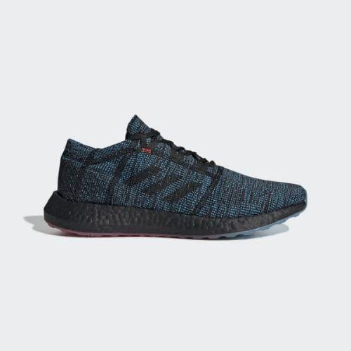 (取寄)アディダス メンズ ピュアブースト ゴー Ltd ランニングシューズ adidas Men's Pureboost Go LTD Shoes Core Black / Core Black / Shock Cyan