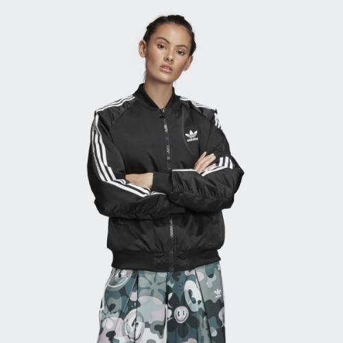 (取寄)アディダス オリジナルス レディース ボンバー ジャケット adidas originals Women Bomber Jacket Black