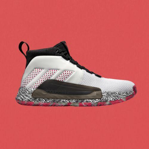 (取寄)アディダス メンズ デイム 5 バスケットボールシューズ adidas Men's Dame 5 Shoes Cloud White / Shock Red / Clear Mint