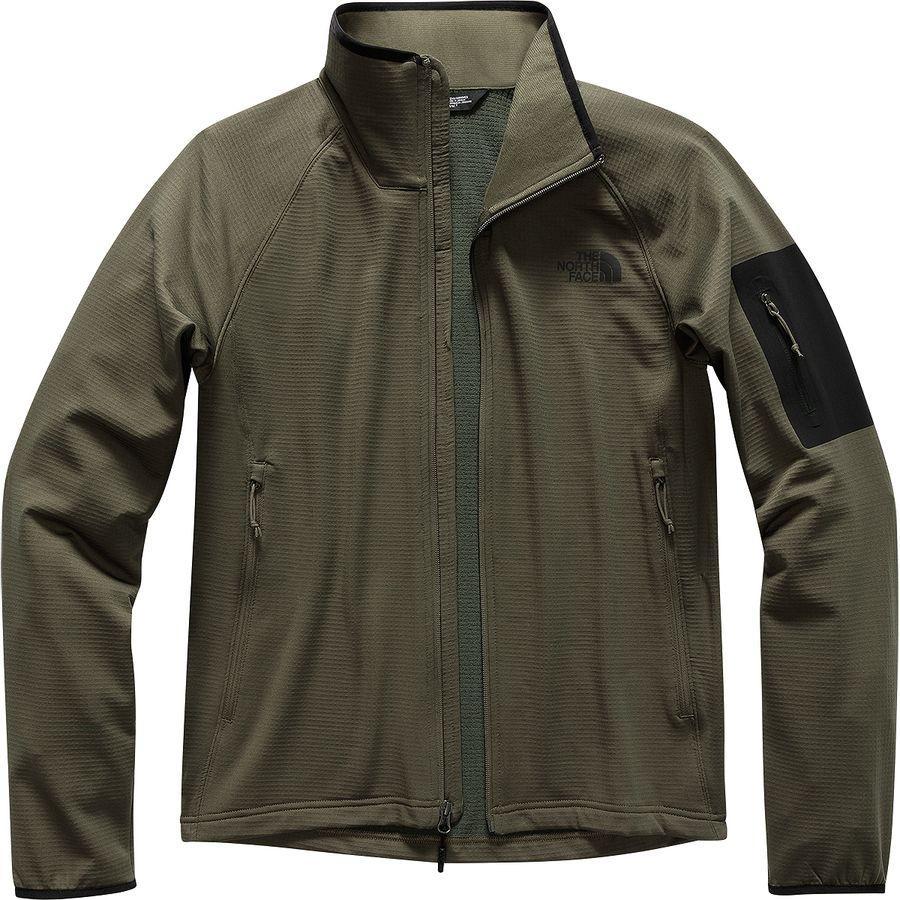 (取寄)ノースフェイス メンズ ボアード フリース ジャケット The North Face Men's Borod Fleece Jacket New Taupe Green/Tnf Black