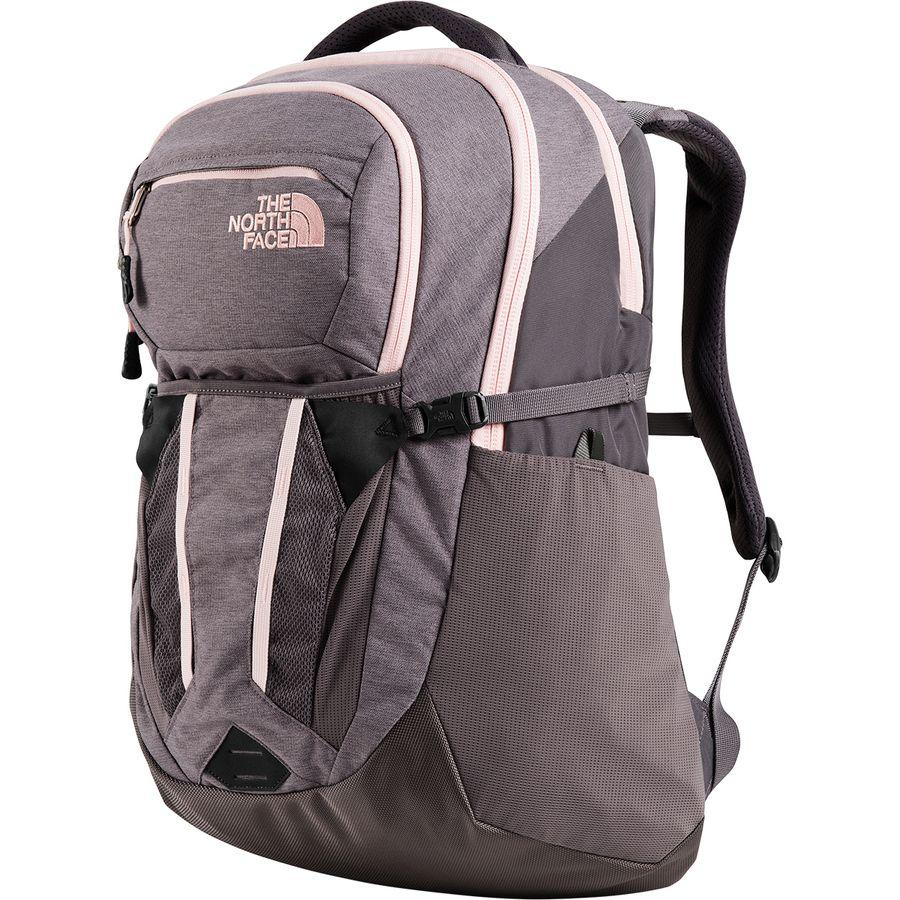 (取寄)ノースフェイス レディース リーコン 30L バックパック The North Face Women Recon 30L Backpack Rabbit Grey Light Heather/Pink Salt