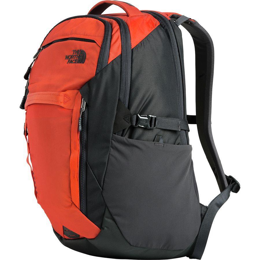 (取寄)ノースフェイス サージ 31L バックパック The North Face Men's Surge 31L Backpack Zion Orange/Asphalt Grey