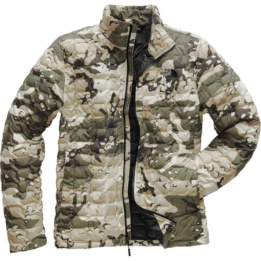 【クーポンで最大2000円OFF】(取寄)ノースフェイス メンズ ThermoBall インサレーテッド ジャケット The North Face Men's ThermoBall Insulated Jacket Peyote Beige Woodchip Camo Print