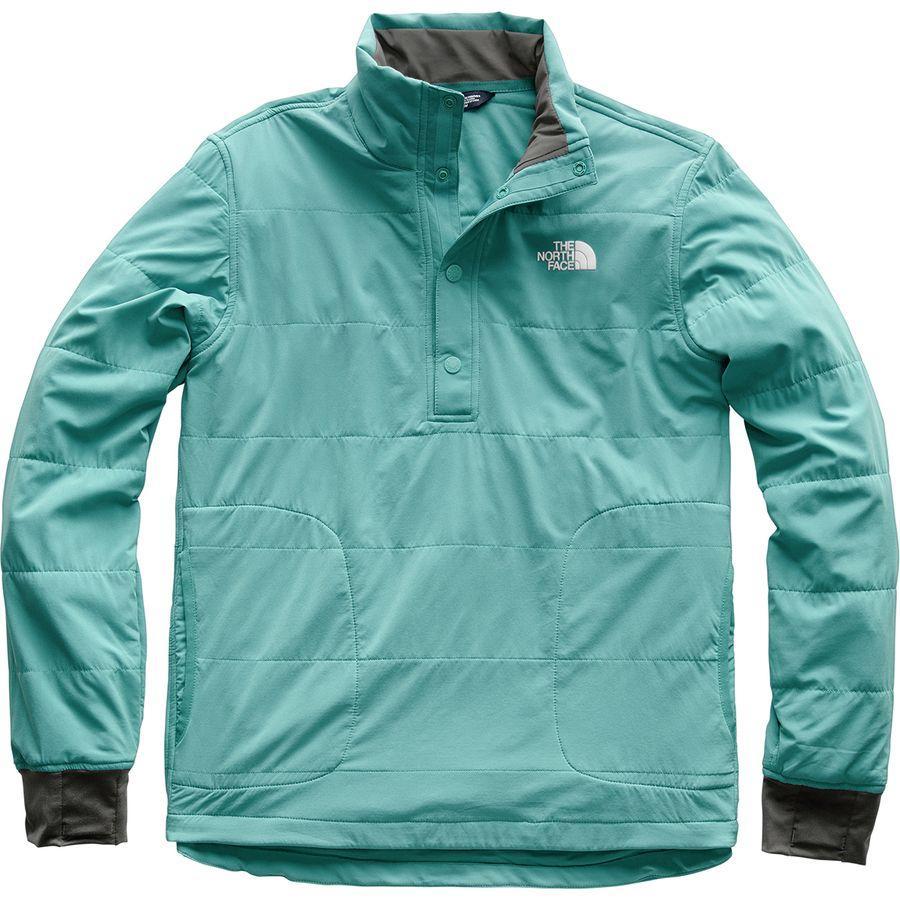 (取寄)ノースフェイス メンズ マウンテン トレーナー 1/4スナップ ネック ジャケット The North Face Men's Mountain Sweatshirt 1/4 Snap Neck Jacket Storm Blue
