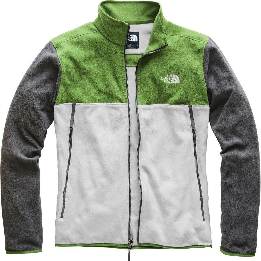 (取寄)ノースフェイス メンズ グレイシャー アルパイン フリース ジャケット The North Face Men's Glacier Alpine Fleece Jacket High Rise Grey/Garden Green/Asphalt Grey