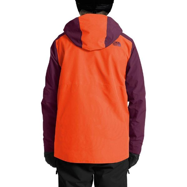 5beeb109d (order) North Face men powder flow jacket The North Face Men's Powderflo  Jacket Persian Orange/Fig