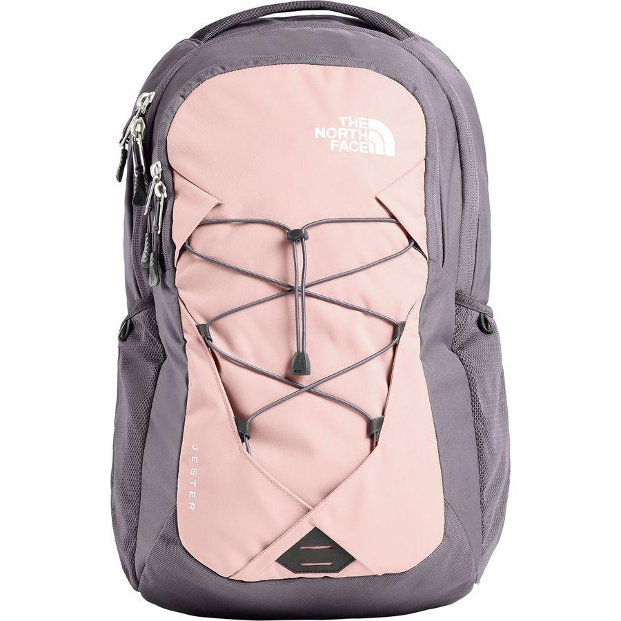 (取寄)ノースフェイス レディース ジェスター 28L バックパック The North Face Women Jester 28L Backpack Rabbit Grey/Pink Salt