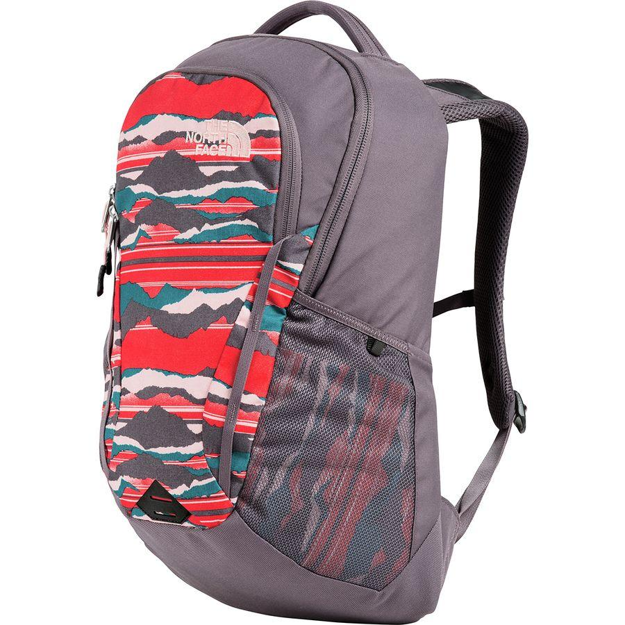 (取寄)ノースフェイス レディース ボルト 26L バックパック The North Face Women Vault 26L Backpack Juicy Red Landscape Stripe Print/Rabbit Grey