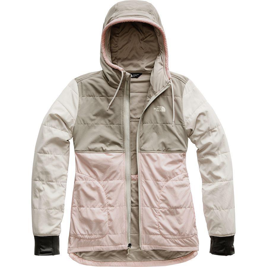 (取寄)ノースフェイス レディース マウンテン トレーナー フルジップ パーカー The North Face Women Mountain Full-Zip Hoodie Sweatshirt Pink Salt Multi