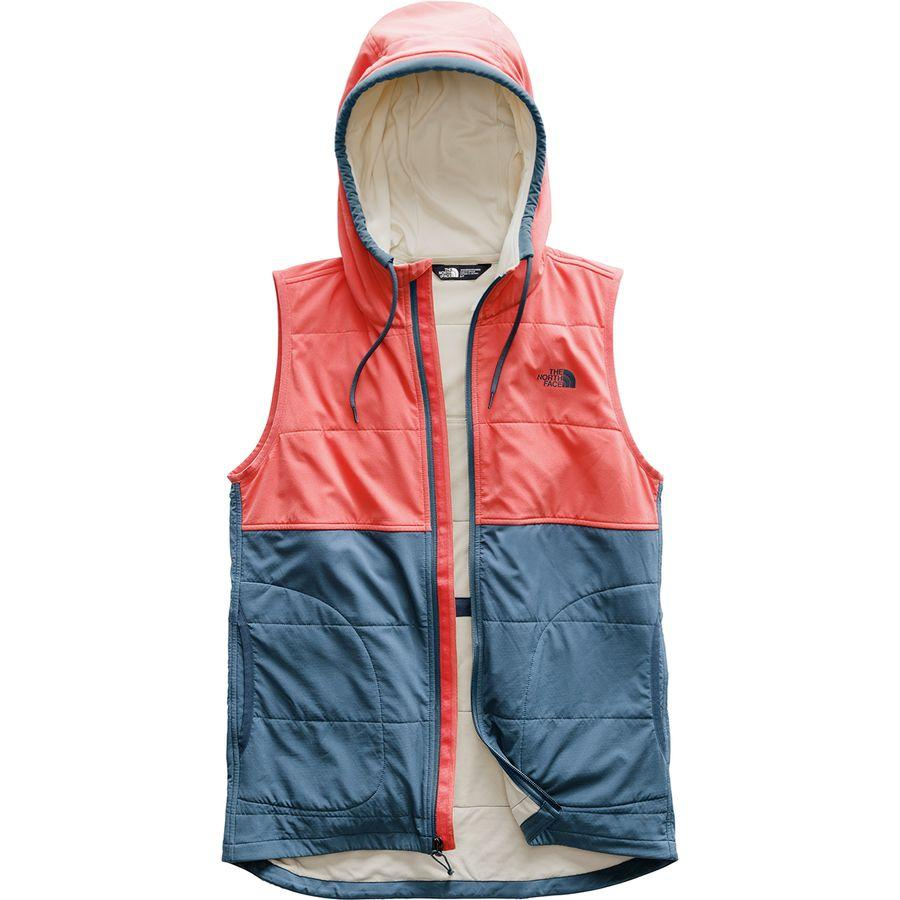 (取寄)ノースフェイス レディース マウンテン フーデッド ベスト トレーナー The North Face Women Mountain Hooded Vest Sweatshirt Spiced Coral Multi