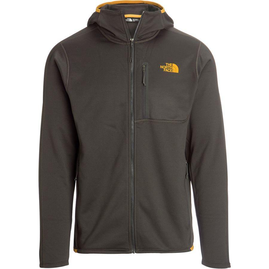 【クーポンで最大2000円OFF】(取寄)ノースフェイス メンズ キャニオンランズ フーデッド フリース ジャケット The North Face Men's Canyonlands Hooded Fleece Jacket Asphalt Grey/Zinnia Orange
