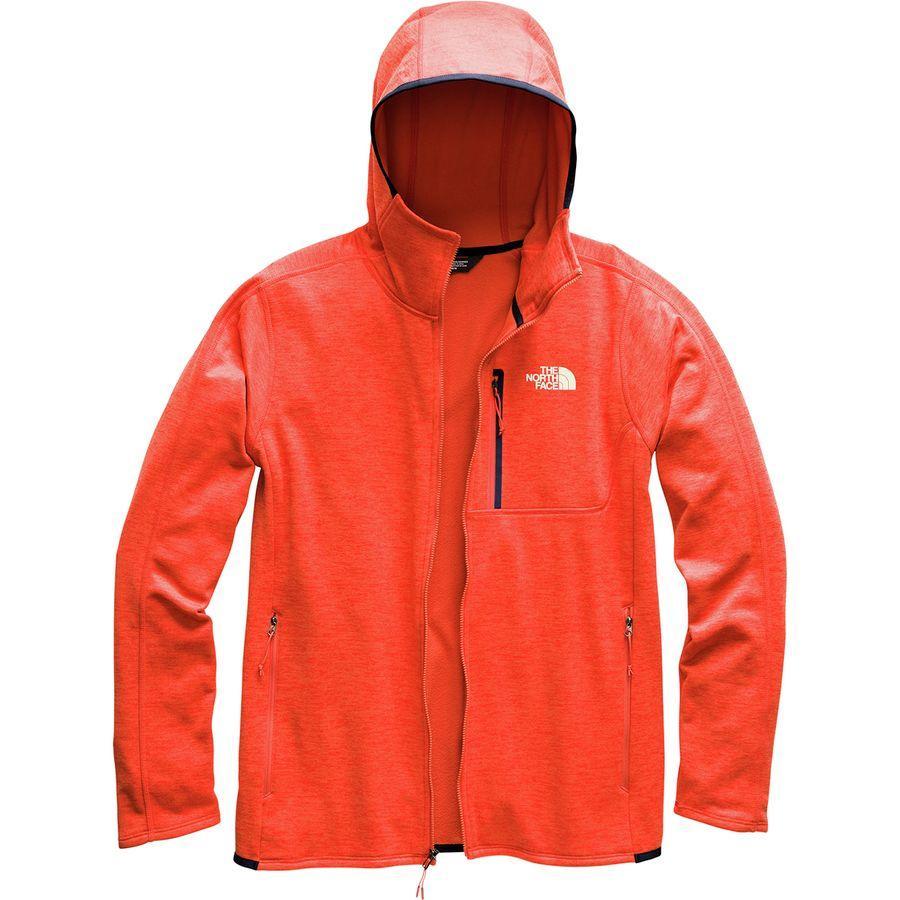 (取寄)ノースフェイス メンズ キャニオンランズ フーデッド フリース ジャケット The North Face Men's Canyonlands Hooded Fleece Jacket Zion Orange Heather