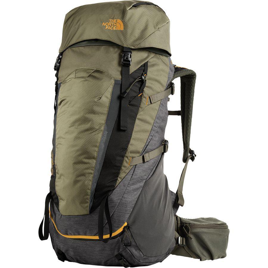 【クーポンで最大2000円OFF】(取寄)ノースフェイス テラ 55L バックパック The North Face Men's Terra 55L Backpack Tnf Dark Grey Heather/New Taupe Green