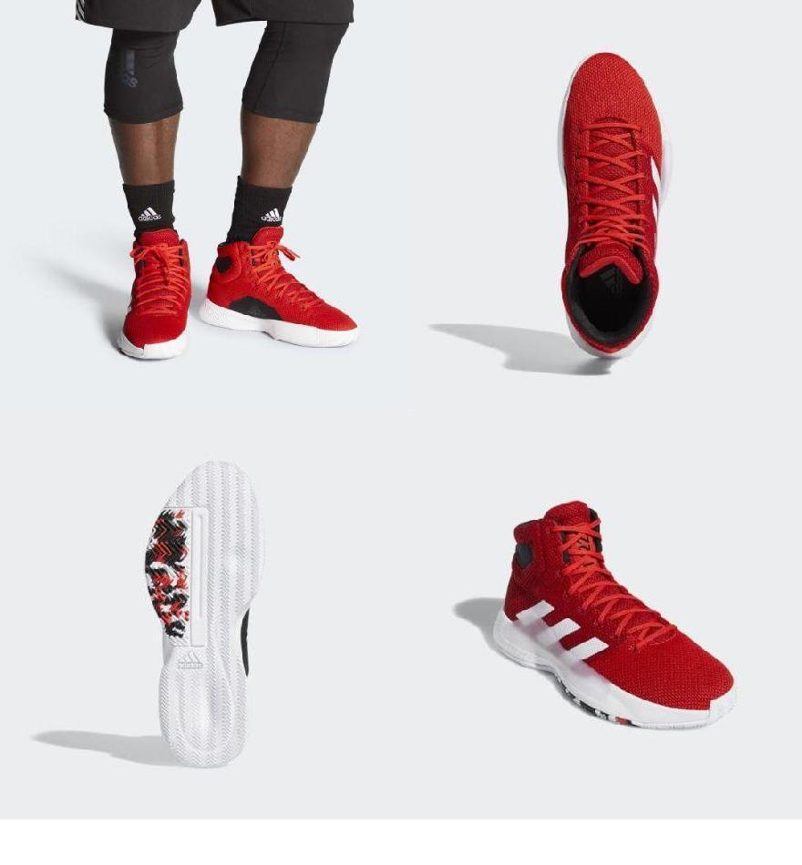 528b019542fb0 ... バウンス マッドネス 2019 バスケットボールシューズ adidas Men s Pro Bounce Madness 2019 Shoes  Active Red   Cloud White   Core Black-メンズ競技用シューズ