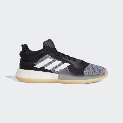 (取寄)アディダス メンズ マーキー ブースト ロウ バスケットボールシューズ adidas Men's Marquee Boost Low Shoes Core Black / Cloud White / Shock Cyan