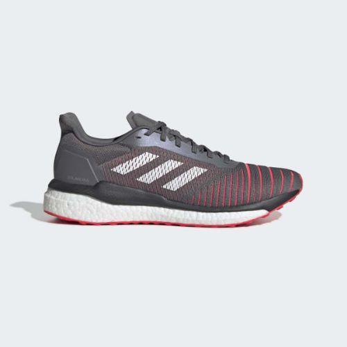 (取寄)アディダス メンズ ソーラー ドライブ ランニングシューズ adidas Men's Solar Drive Shoes Grey / Cloud White / Shock Red