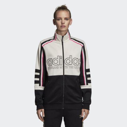 (取寄)アディダス オリジナルス レディース トラック ジャケット adidas originals Women Track Jacket Chalk White / Black
