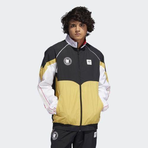 (取寄)アディダス オリジナルス メンズ エビセン トラック ジャケット adidas originals Men's Evisen Track Jacket Black / White / Pyrite / Scarlet
