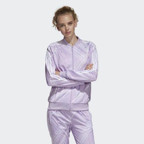 (取寄)アディダス オリジナルス レディース SST トラック ジャケット adidas originals Women SST Track Jacket Purple Glow
