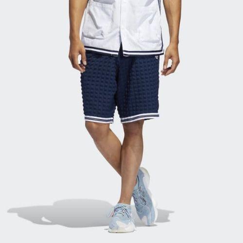(取寄)アディダス オリジナルス メンズ チェッカード ショーツ adidas originals Men's Checkered Shorts Collegiate Navy / White