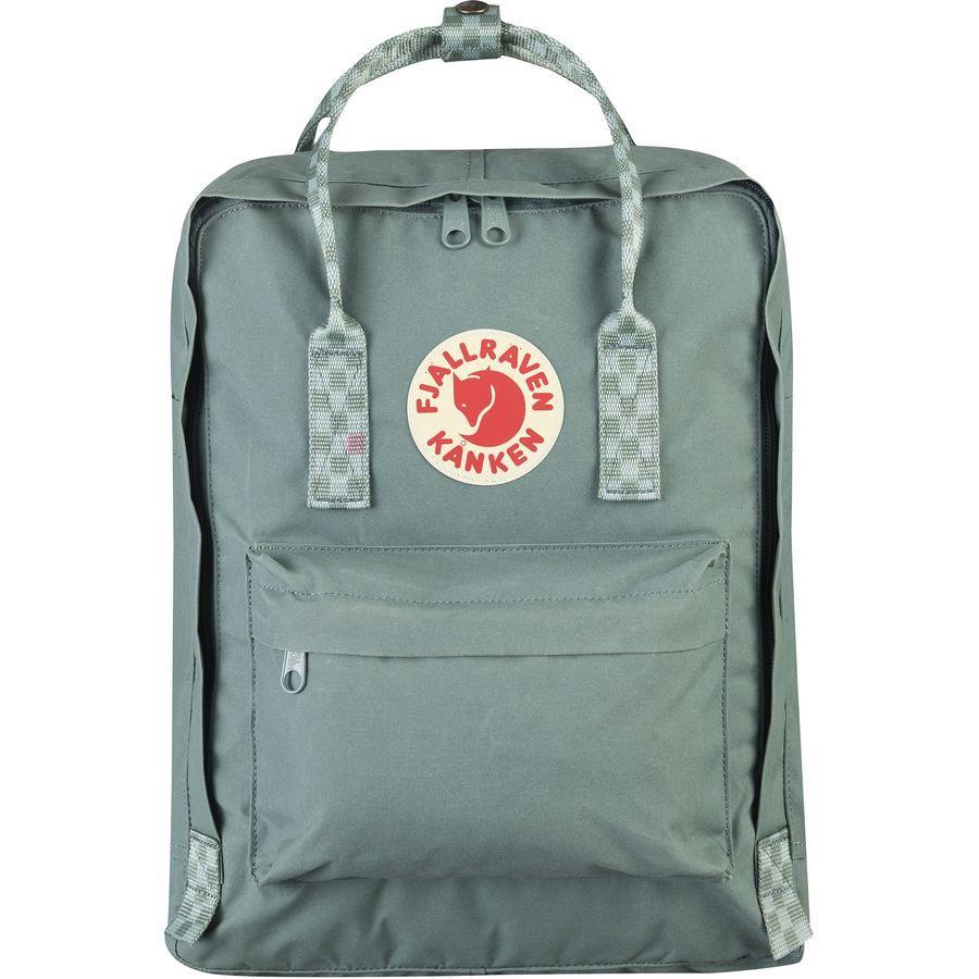(取寄) フェールラーベン ユニセックス カンケン 16L バックパック Fjallraven Men's Kanken 16L Backpack Frost Green/Chess Pattern