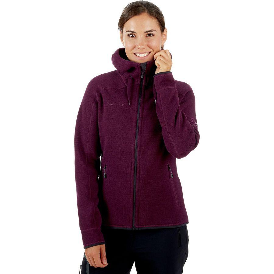 (取寄)マムート レディース アークティック M1 フーデッド フリース ジャケット Mammut Women Arctic ML Hooded Fleece Jacket Grape/Phantom Melange