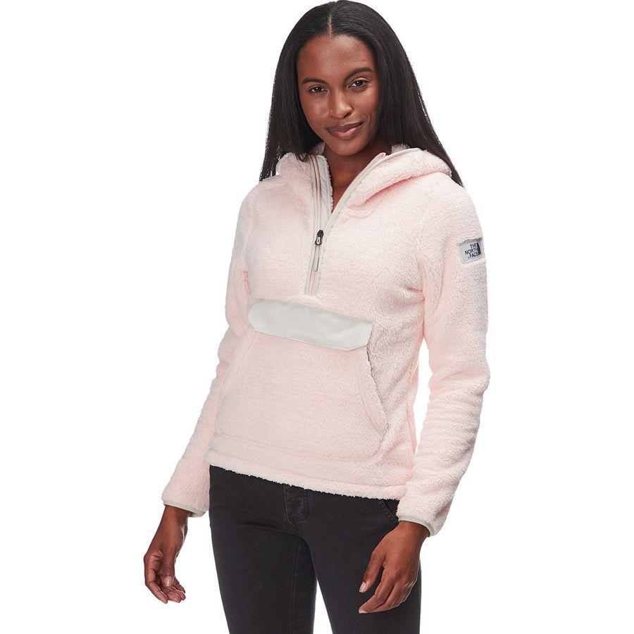 【クーポンで最大2000円OFF】(取寄)ノースフェイス レディース Campshire フーデッド プルオーバー フリース ジャケット The North Face Women Campshire Hooded Pullover Fleece Jacket Pink Salt/Moonstruck Grey