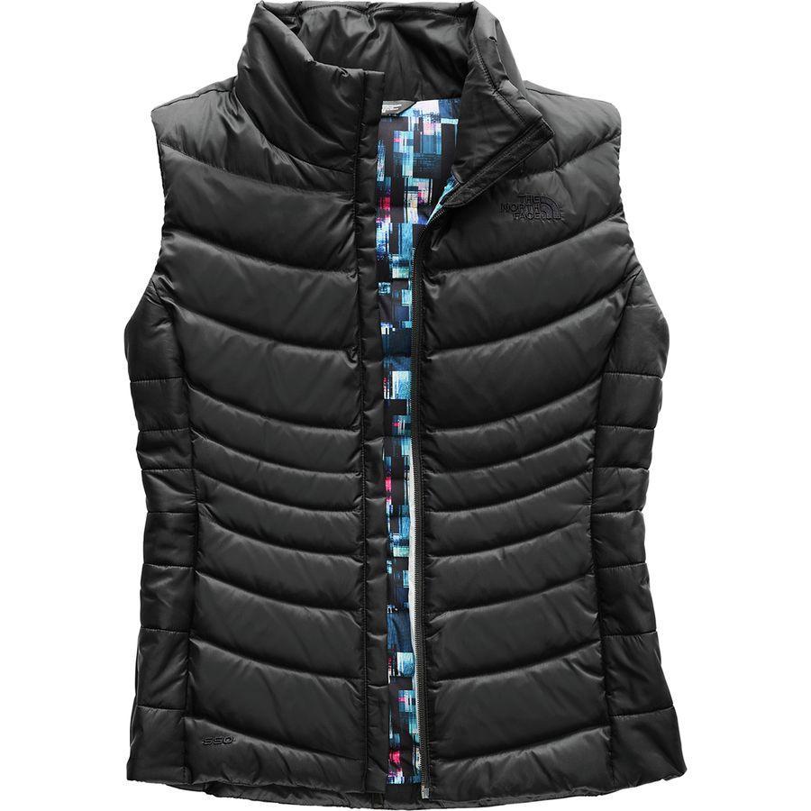 (取寄)ノースフェイス レディース アコンカグア 2 ダウン ベスト The North Face Women Aconcagua II Down Vest Tnf Black/Multi Glitch Print