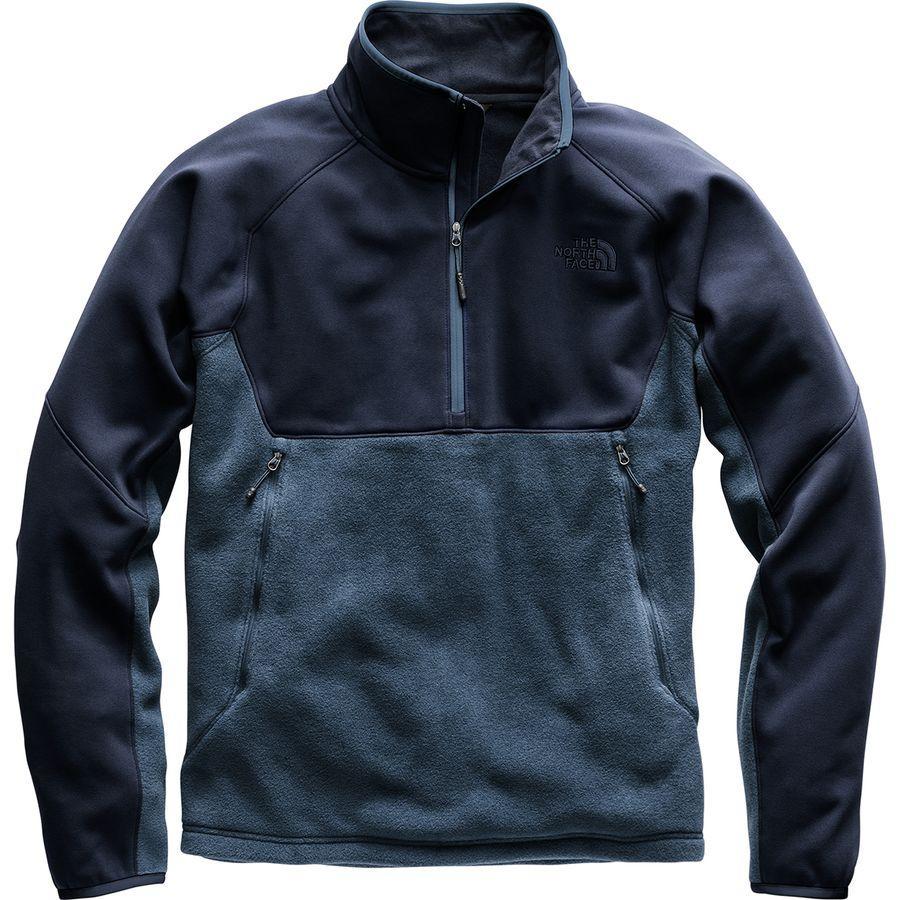 (取寄)ノースフェイス メンズ トルミーピーク ハイブリッド 1/2-Zip フリース ジャケット The North Face Men's Tolmiepeak Hybrid 1/2-Zip Fleece Jacket Shady Blue/Urban Navy