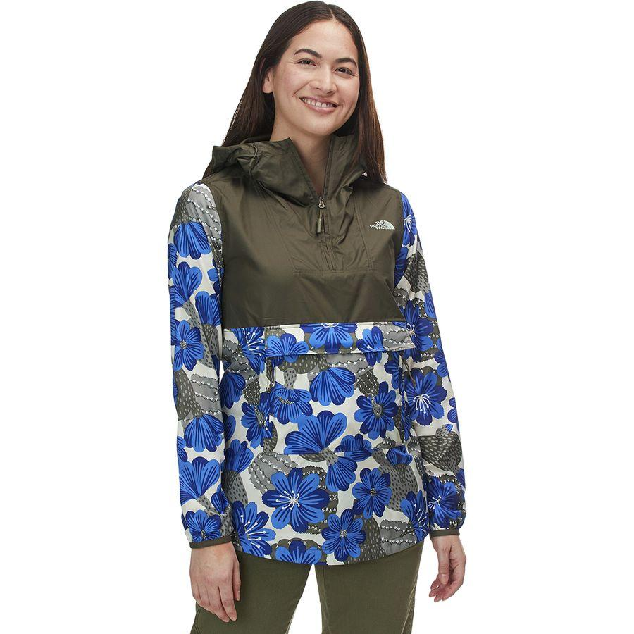 (取寄)ノースフェイス レディース ペインテッド Fanorak ジャケット The North Face Women Printed Fanorak Jacket New Taupe Green/Aztec Blue Desert Floral Print