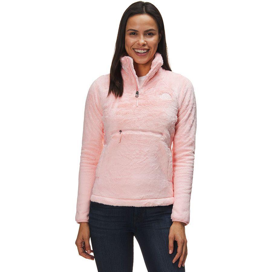 (取寄)ノースフェイス レディース Osito スポーツ ハイブリッド 1/4-Zip ジャケット The North Face Women Osito Sport Hybrid 1/4-Zip Jacket Pink Salt