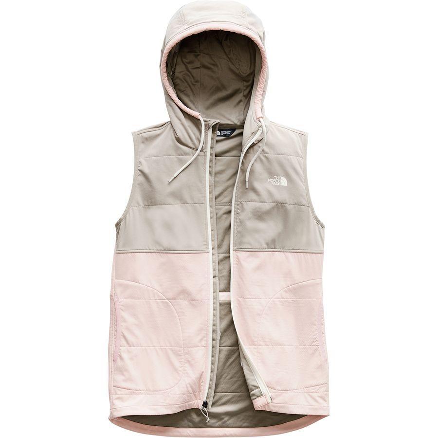 (取寄)ノースフェイス レディース マウンテン フーデッド ベスト トレーナー The North Face Women Mountain Hooded Vest Sweatshirt Pink Salt Multi