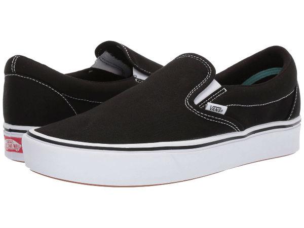 (取寄)Vans(バンズ) スリッポン コンフィクッシュ スリップ ユニセックス メンズ レディース Vans Unisex ComfyCush Slip (Classic) Black/True White